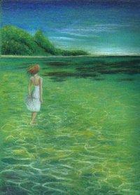 陳靜雯繪畫作品《水中光線》