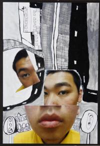 梁偉森拼貼作品相片