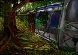 黃錫煌繪畫作品《幻想的未來》