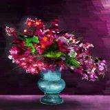 黃錫煌繪畫作品《紫光逼人》