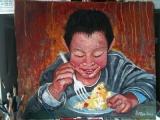 黃錫煌繪畫作品《知足常樂》