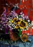 黃錫煌繪畫作品《看花笑,聞草香》