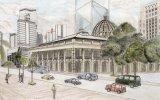郭啟業繪畫作品《香港立法局大樓》
