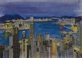 郭啟業繪畫作品《維多利亞夜景》