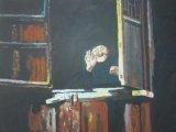 黃永康繪畫作品《快樂的婆婆》