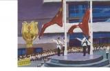 黃永康繪畫作品《金紫荊廣場》