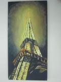黃永康繪畫作品《巴黎鐵塔》