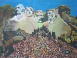 黃永康繪畫作品《美國總統山》