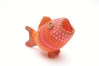 軟陶、玻璃作品《軟陶「紅衫魚」》