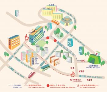 賽馬會共融藝術工房地圖