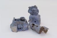 陶藝作品《藍屋》