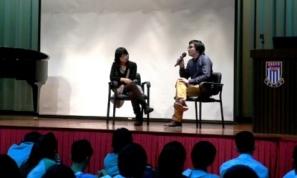 展能藝術家李昇先生到裘錦秋中學 (元朗) 分享他的藝術歷程