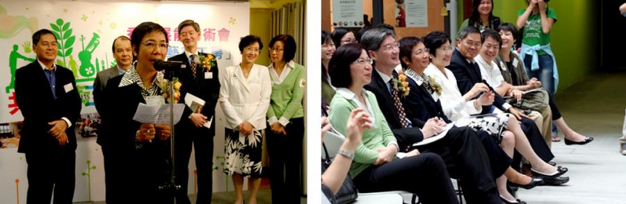 「共融藝術工房」成立︰主席林彩珠女士致辭及嘉賓合照