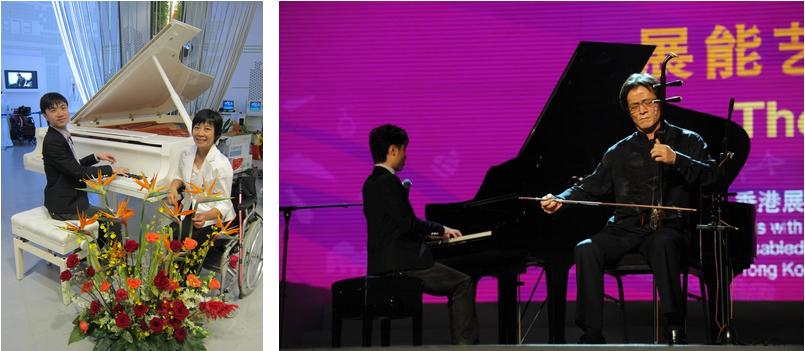 李軒及鄧燕妹代表香港於上海世博「香港活動週」表演