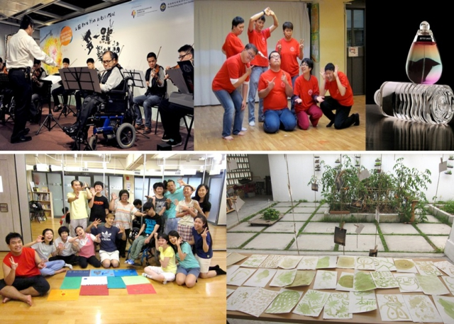 Photo collage of Training for Artists with Disabilities workshops
