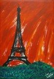 廖東梅繪畫作品《浪漫巴黎一》
