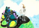 唐詠然繪畫作品《你當我是什麼》