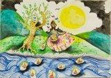 唐詠然繪畫作品《祈禱》