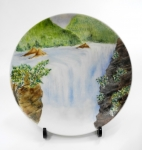 李天福陶瓷作品《瀑布》