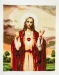 周麗萍十字繡作品《耶穌我要跟隨你》