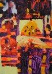 梁偉森塑膠彩紙本作品《我們的老香港》