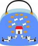 蕭沖電腦繪圖設計作品《我的小狗-紙袋》