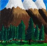 王瀚緣油畫布本作品《挪威的森林》