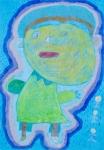 吳景棠木顏色及水彩紙本作品《我的校園生活》