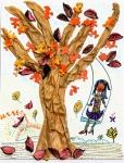 吳嘉信混合媒體作品《秋天的童話》