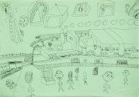 姜旭倫鉛筆紙本作品《夢想號2 》