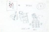 孫宇峰鉛筆紙本作品《記藝能課》