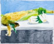 彭誠浩油畫紙本作品《豐收》
