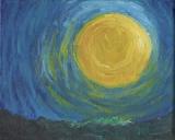 李曉曦繪畫作品《明月光》
