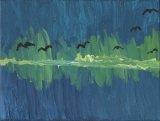 李曉曦繪畫作品《海灣群鴉》