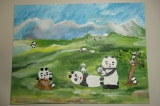 吳小恩繪畫作品《家庭滿樂樂》