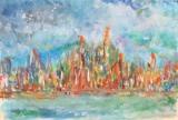 歐陽毅禧繪畫作品《落雨維港》