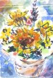 歐陽毅禧繪畫作品《太陽花》