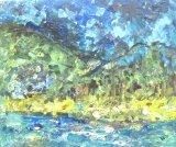 歐陽毅禧繪畫作品《迪欣湖寫生(出院後的心情)》