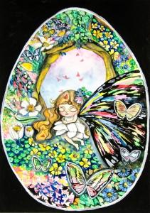 唐詠然水彩紙本作品《無懼失去的東西,心內的一道陽光》