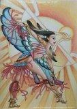 陳靜雯繪畫作品《太陽鷹舞》