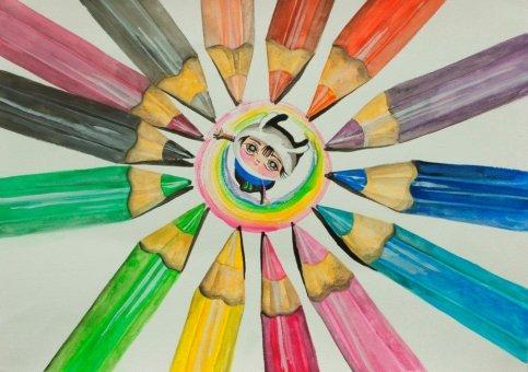 唐詠然繪畫作品《看見幸福》