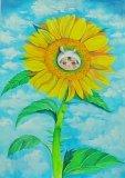 唐詠然繪畫作品《長刺的太陽花》