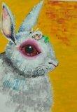 唐詠然繪畫作品《被掩住的大耳朵》