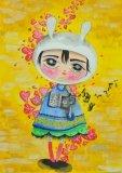唐詠然繪畫作品《用心聽》