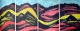 廖東梅繪畫作品《黃土高坡》之一