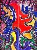 廖東梅繪畫作品《瀑布奔流》