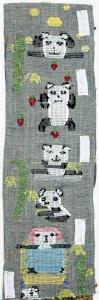 黃泳雪紗織藝術作品《熊貓俱樂部(局部)》