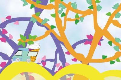 李曉曦電腦繪圖設計作品《小小雪糕車》