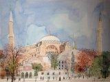 高楠繪畫作品《土耳其、清真寺》