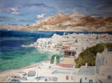 高楠繪畫作品《希臘、愛琴海(一)》
